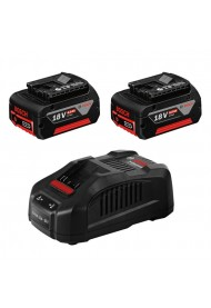 BOSCH GBA 18 V 6,0 Ah M-C Μπαταρίες x2 + GAL 1880 CV Φορτιστής 1600A00B8L